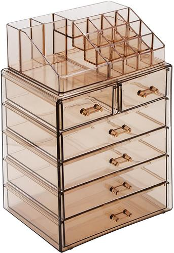 Acrylic Cosmetic Makeup And Jewelry Storage Case Display